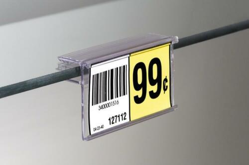Price Tag-Price Label Holders for Glass Shelves-25 pieces- Channel Side Insert