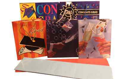 Graduation Gift Bags (Graduation Gift Bag Assortment with Handle, 5 Pcs  Assorted Sizes Paper Bags)