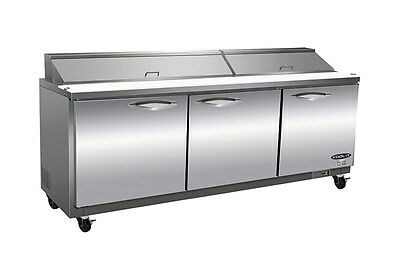 Kool-it Ikon Ksp72 72 3-door Commercial Refrigerated Sandwich Salad Prep Table
