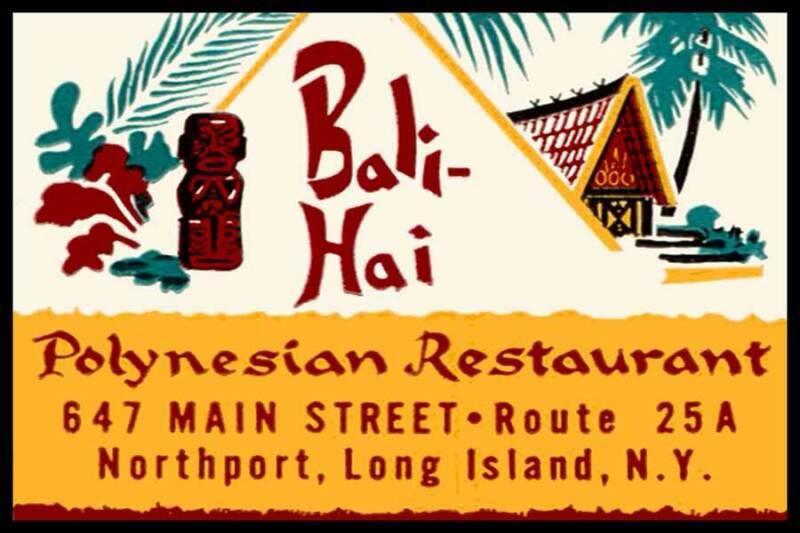 Bali-Hai Polynesian Restaurant Northport Long Island NY Fridge Magnet