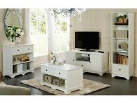 Paris Sideboard/ Bookcase/ Coffee Table/ Brand New Living Room Hall Furniture Classic White finish
