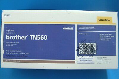 K184M Office Max Laser Toner Cartridge Brother TN560 Black New Sealed Inner Bag - $11.99