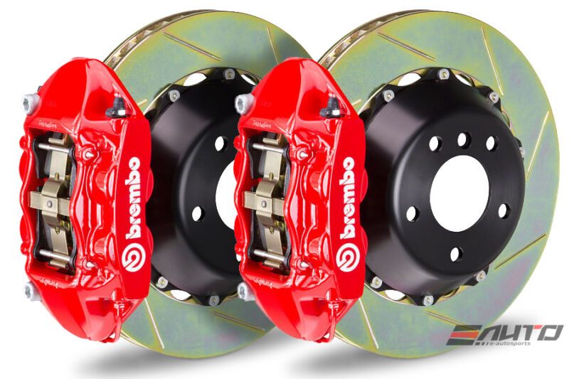 Brembo Rear Gt Big Brake Bbk 4piston Red 345x28 Slot Bmw 135i E81 E82 08-13