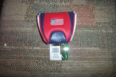BRAND NEW USA Flag  mallet  2 ball  Putter Cover  fits odyssey