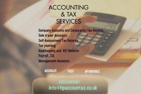 Company Accounts, Bookkeeping , VAT, Payroll, Self Assessment tax returns