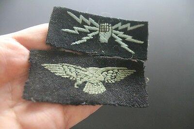 WW2 British RAF insignia lot shoulder eagle wireless operator Rhodesian