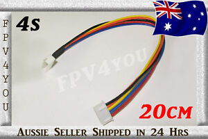 High Quality 4S 14.8v Lipo Balance Wire Extension Lead Cable 20cm JST XH FPV