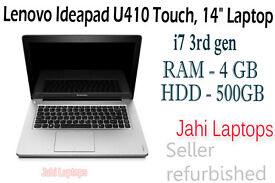 "Lenovo Ideapad U410 Touch/ 14"" Laptop/ i7 3rd gen/ 4GB RAM/500GB HDD/ Win8"
