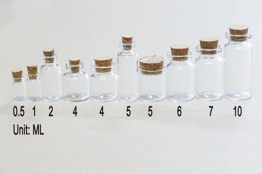 10pcs Small Glass Jars with Cork,Glass Vile,Small Bottle 22x40mm