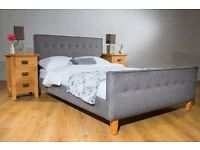 Double Verona Fabric Upholstered Bed Frame