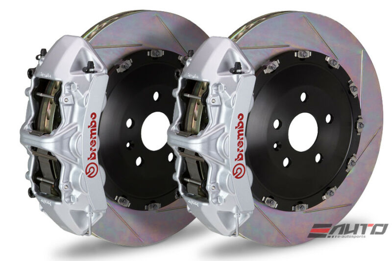 Brembo Front Gt Big Brake Bbk 6pot Silver 405x34 Slot Disc Bmw E60 M5 E63 E64 M6