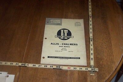 It Allis-chalmers Shop Manual For Wd45 Diesel. Some Wear From Use.