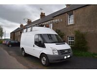 Ford Transit Hi Roof 140bhp Panel Van With Electrics, Wash Basin & Leather Interior. Ex Utility Van.