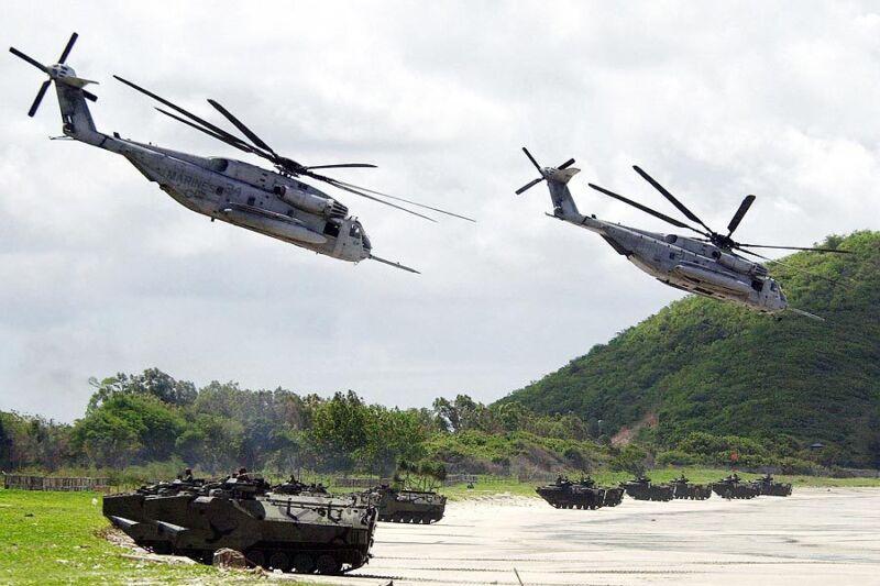 CH-53 / CH-53E SEA STALLION HELICOPTERS 12x18 SILVER HALIDE PHOTO PRINT
