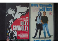 5 BILLY CONNOLLY STAND UP COMEDY VIDEOS--VHS