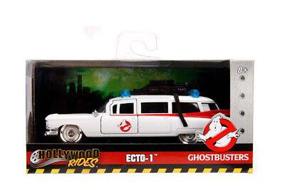 (Jada 1959 Cadillac Ambulance Ghostbusters ECTO 1 Diecast Car White 1:32 99748)