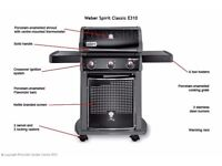 WEBER GAS BBQ E310 CLASSIC NEW in Unopened box with Premium BBQ Cover 7101.