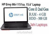 "HP Envy M6-1151sa, 15.6"" Laptop, Core i3 2nd Gen, 4GB RAM,500GB HDD Win7-0812511"