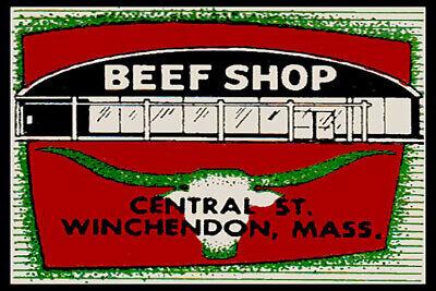 Beef Shop Winchendon Massachusetts Fridge Magnet