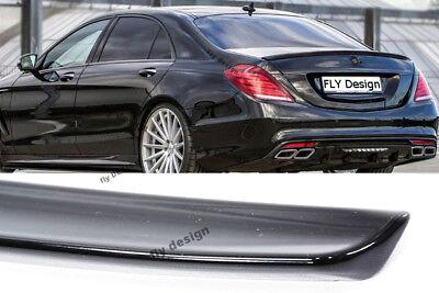 Mercedes S Klasse amg stil spoiler Obsidian SCHWARZ heckspoiler hecklippe flügel