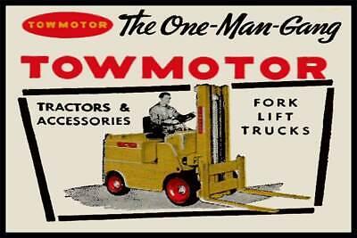 Towmotor Fork Lift Trucks Fridge Magnet