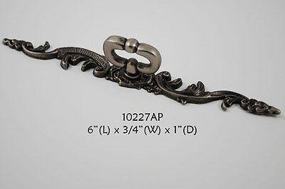Hardware Cabinet Dresser Drawer Pull KNOB Mock Key w/ Backplate Antique Pewter