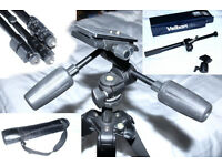 Carbon fibre tripod - with two heads and boom arm