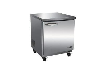 Commercial Undercounter Refrigerator 27 Stainless Cooler Worktop New Nsf