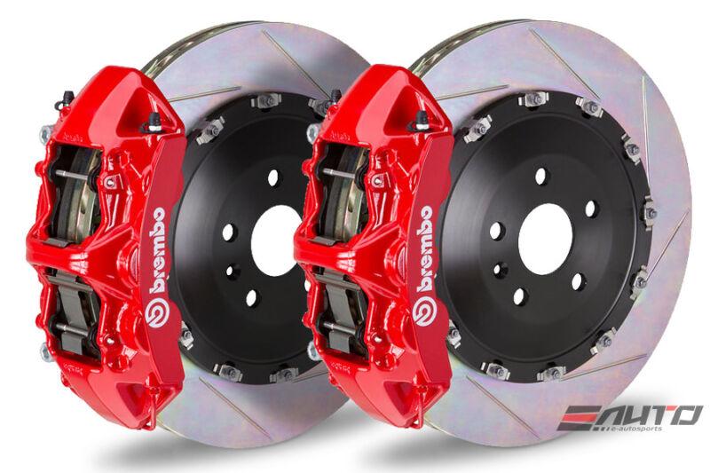 Brembo Front Gt Brake 6pot Caliper Red 405x34 Slot Rotor Porsche 970 Panamera