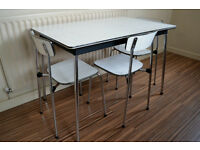 vintage 1960s Formica table and chairs