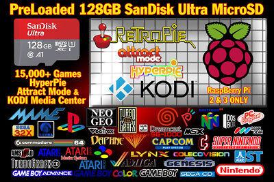 Loaded 128GB SanDisk Ultra Raspberry Pi RetroPie / HyperPie