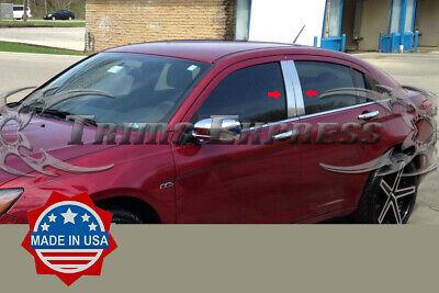 fit:2011-2014 Chrysler 200 4Pc Pillar Post Stainless Steel Trim Door Cover