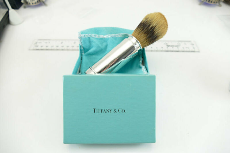 RARE Tiffany & Co Sterling Shaving Brush Folding   No Monos  !! GREAT GIFT!! EUC