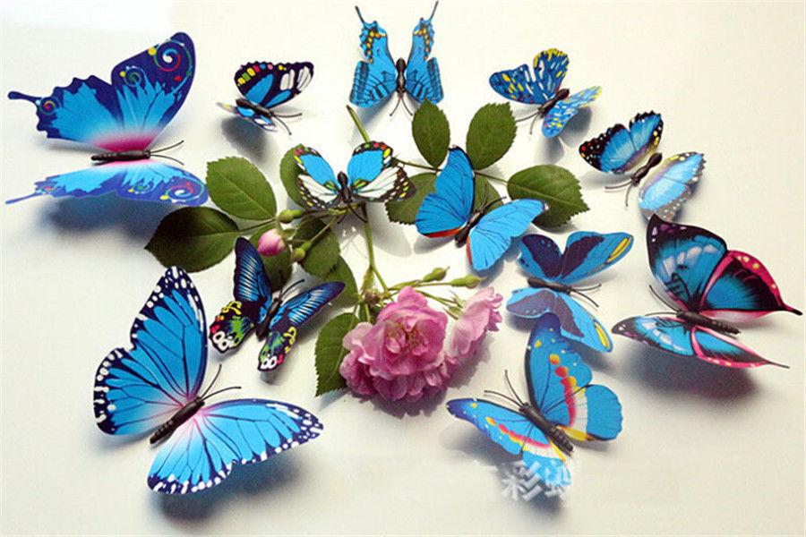 12//24Stk 3D Butterflies Wall Tattoo wanddeka Wall Deco Wandtatoo Wall Sticker