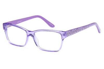 New Women's Rx Eyeglasses Prescription Frames Plastic Demo Lens Purple (Plastic Eyeglass Lenses)
