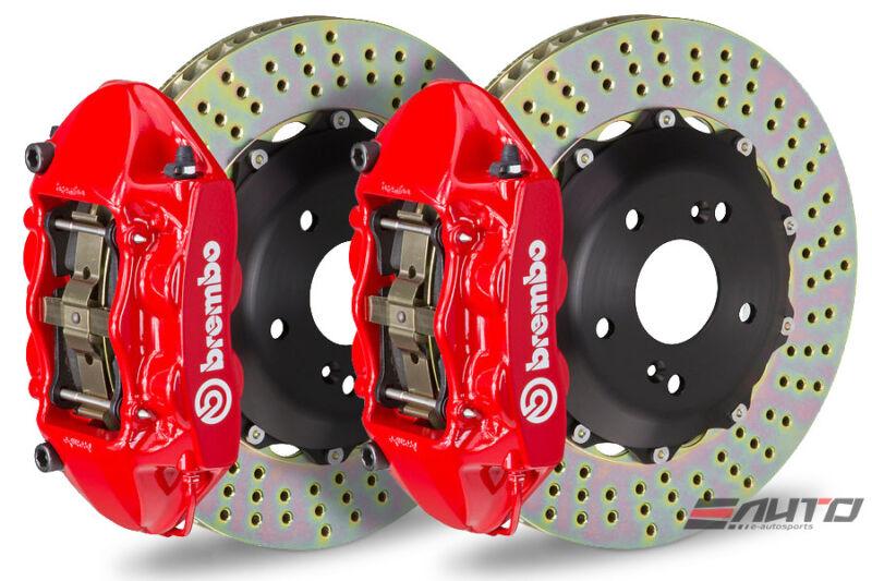 Brembo Front Gt Brake Bbk 4piston Red 345x28 Drill Disc For Mini Cooper F55 F56