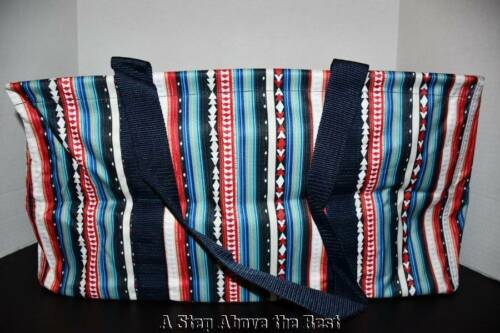 Thirty One Large Utility Tote in SOUTHWEST STRIPE NEW