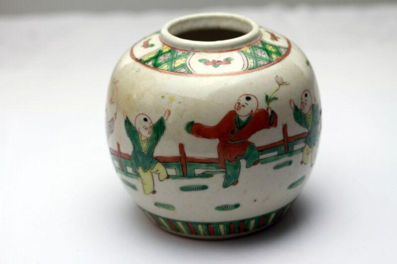 Antique Chinese Porcelain Tea Caddy