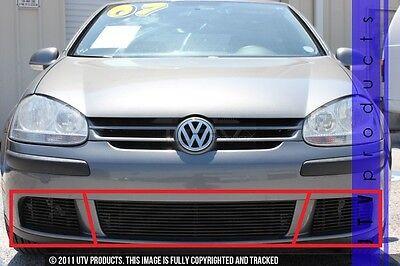GTG 2007 - 2009 Volkswagen Rabbit 3PC Gloss Black Replacement Billet Grille - Volkswagen Rabbit Parts