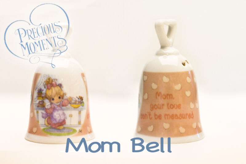 PRECIOUS MOMENTS Porcelain Mom Official Collectible Bell 2004 - Lot of 2 - NEW!
