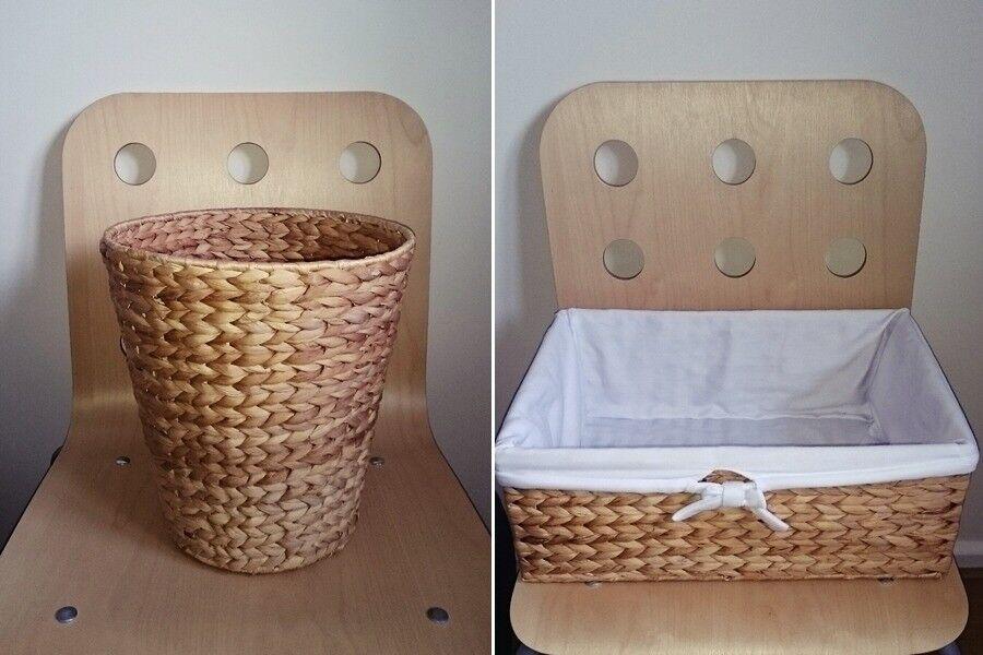 John Lewis Water Hyacinth Towel Basket &Wastepaper Bin, RRP £30.00