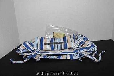 - Longaberger Small SQUARE Serving Basket Liner in Cabana Blue Stripe #23676295 NE