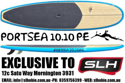 Stand Up Paddle Board, SUP Portsea 10.10 Genuine Bamboo Epoxy