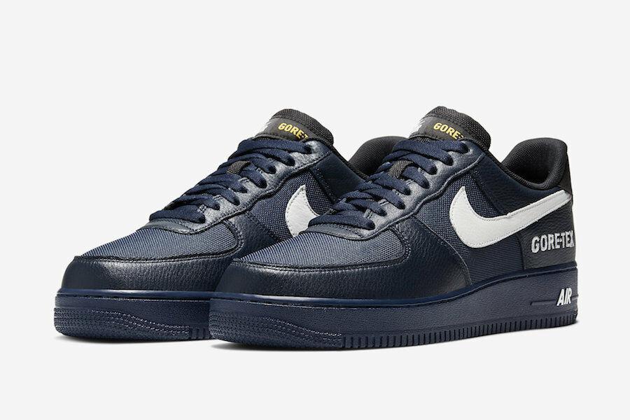 Nike Air Force 1 GTX Gore-Tex Shoes Obsidian White CK2630-40