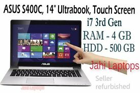 "ASUS S400C, 14"" Ultrabook, Touch Screen, i7 3rd Gen, 4GB, 500GB HDD Win8 -05180"
