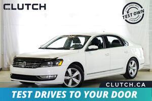 2012 Volkswagen Passat TDI Comfortline w/ Sunroof. Leather