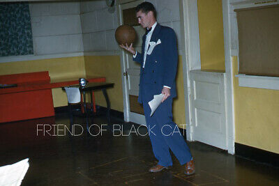1950s Mens Suits & Sport Coats   50s Suits & Blazers Kodak Slide 1950s Red Border Kodachrome Man in Suit with Basketball $21.99 AT vintagedancer.com