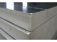 Insulation, Rigid Foam PIR Insulate, (Recticel/Ecotherm), Foil Faced : 100mm : 1.20m x 2.40m