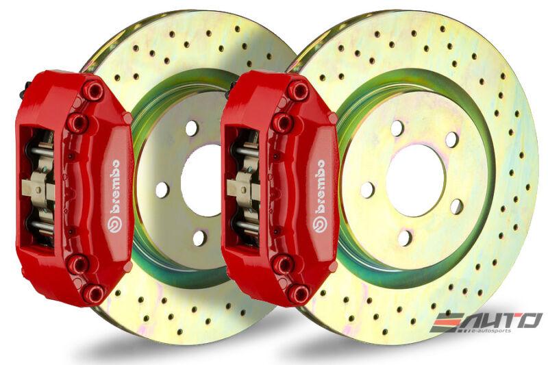 Brembo Front Gt Bbk Brake 4p Caliper Red 330x28 Drill Disc Mazda 3 Bk3p 05-13