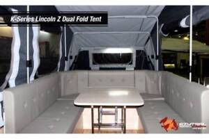 Bargain dual opening hard floor family size Camper